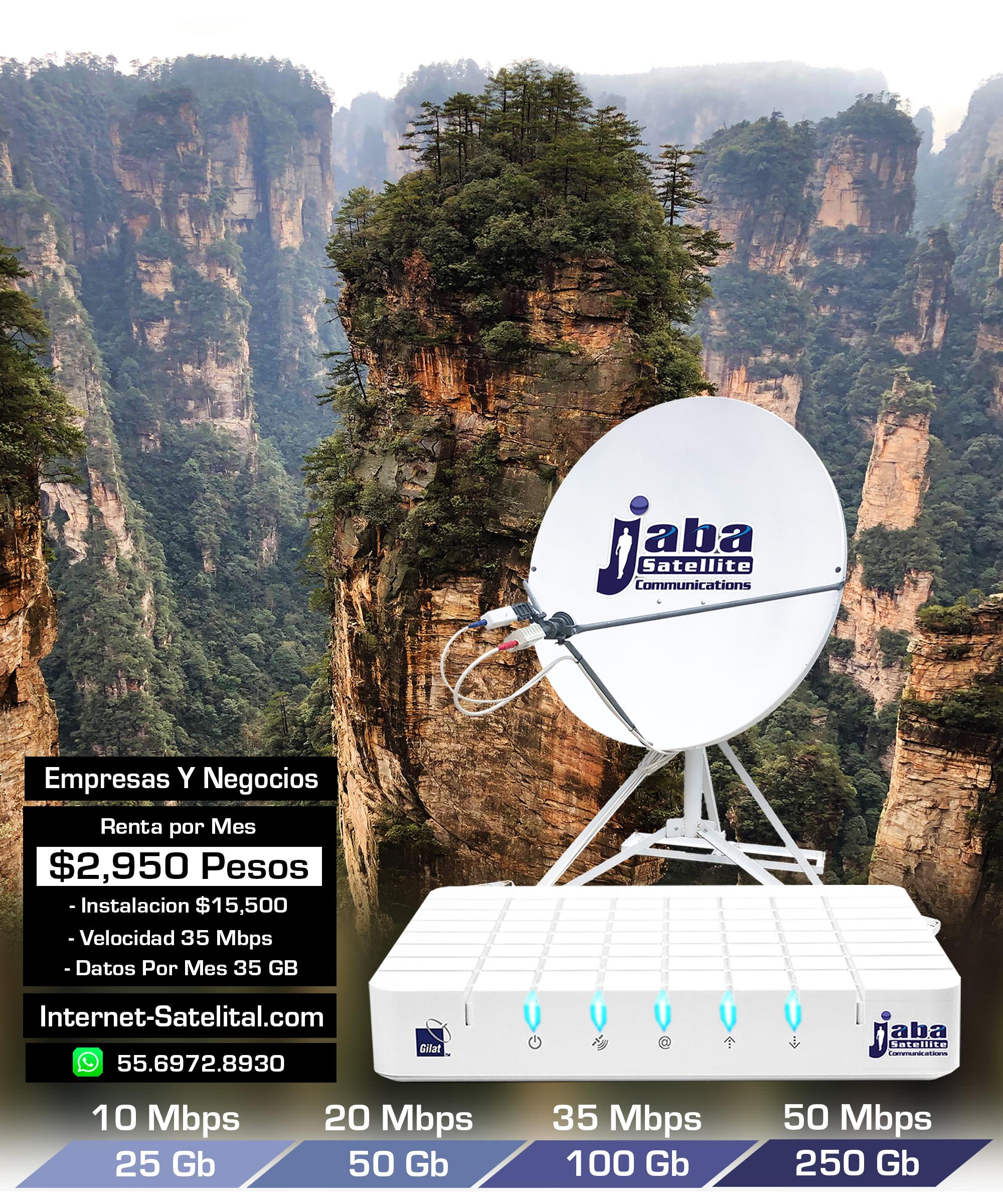 VSAT internet Satelital JabaSat Enlaces Satelitales Mexico