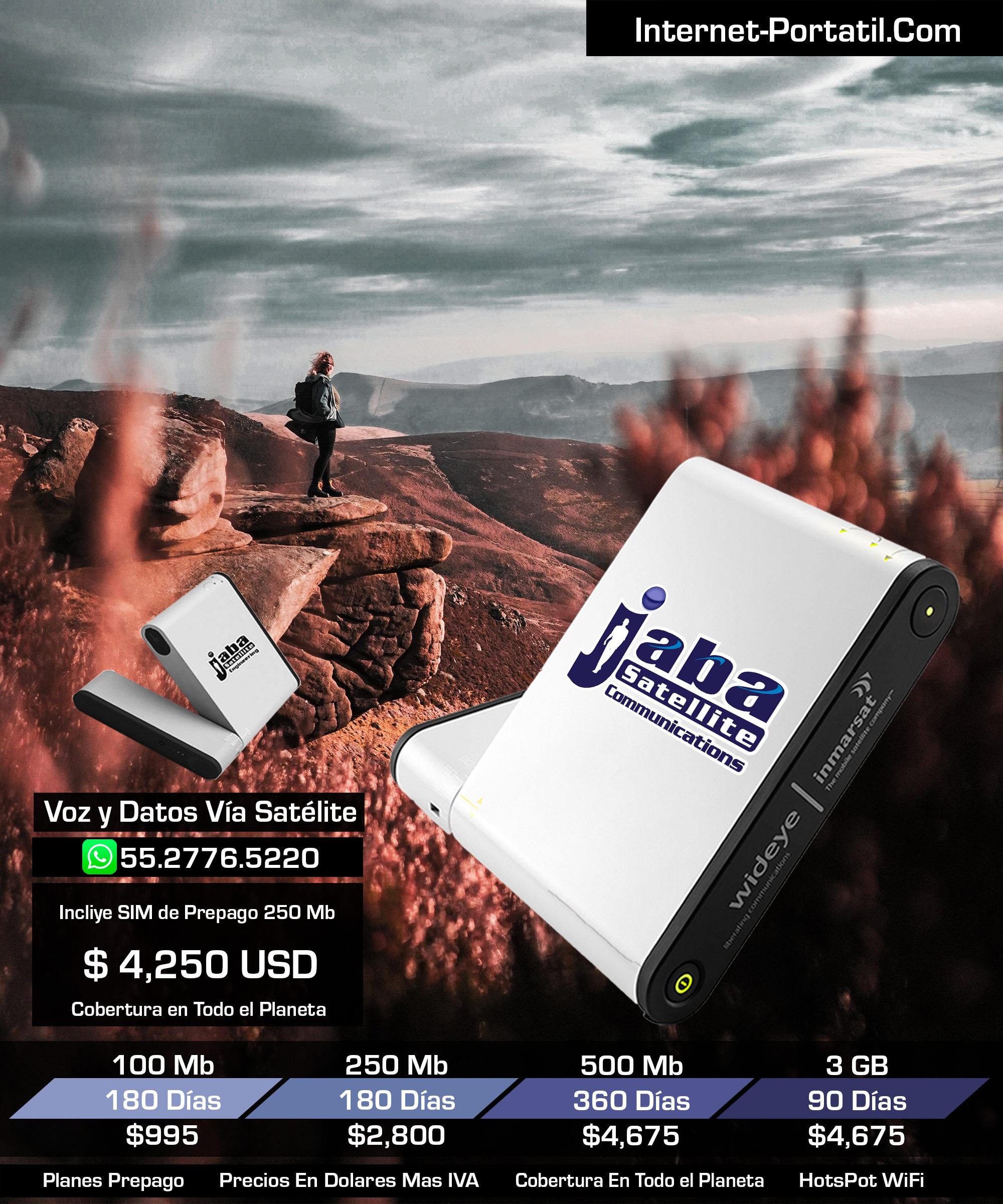JabaSat HotsPot WiFi Portátil Mexico iSatHub